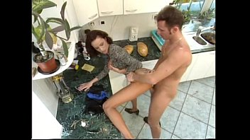 Cleaning Lady Gets Fucked In Kitchen While Wife is Away